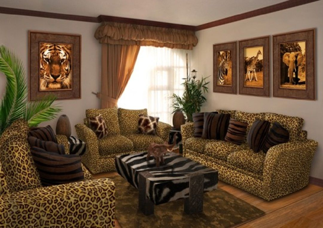 animal print room - Google Search | Safari living rooms ...