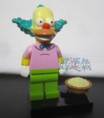 Krusty the Clown Lego minifigures The Simpsons Loose Figure www.thegamecapital.com #Lego #Minifigure #Legominifigures #Simpsons #TheSimpsons #LegoSimpsons