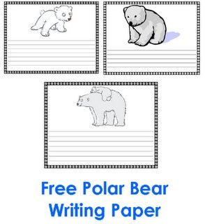 Polar Bear Writing Template  Google Search  Polar Bears