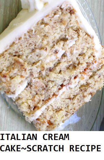Photo of ITALIAN CREAM CAKE~SCRATCH RECIPE