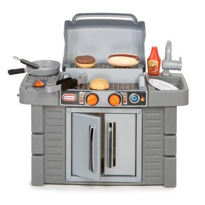 Little Tikes Cook And Grow Bbq Grill In 2020 Cooking Toys Bbq Grill Play Kitchen
