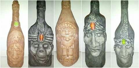Artesania en botella de vidrio
