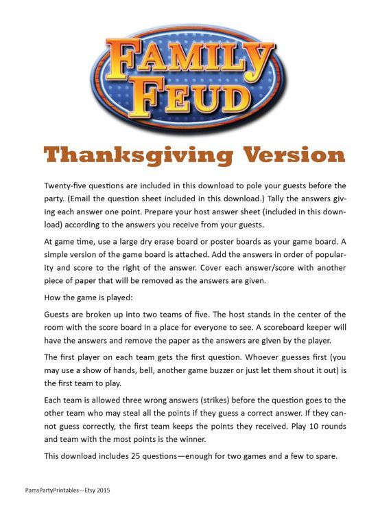 Remarkable image for family feud printable