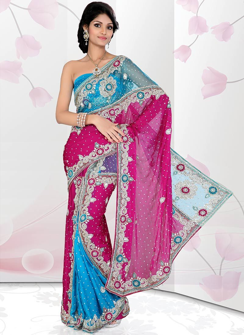 Alluring Satin Chiffon Net Ready Pleated Saree