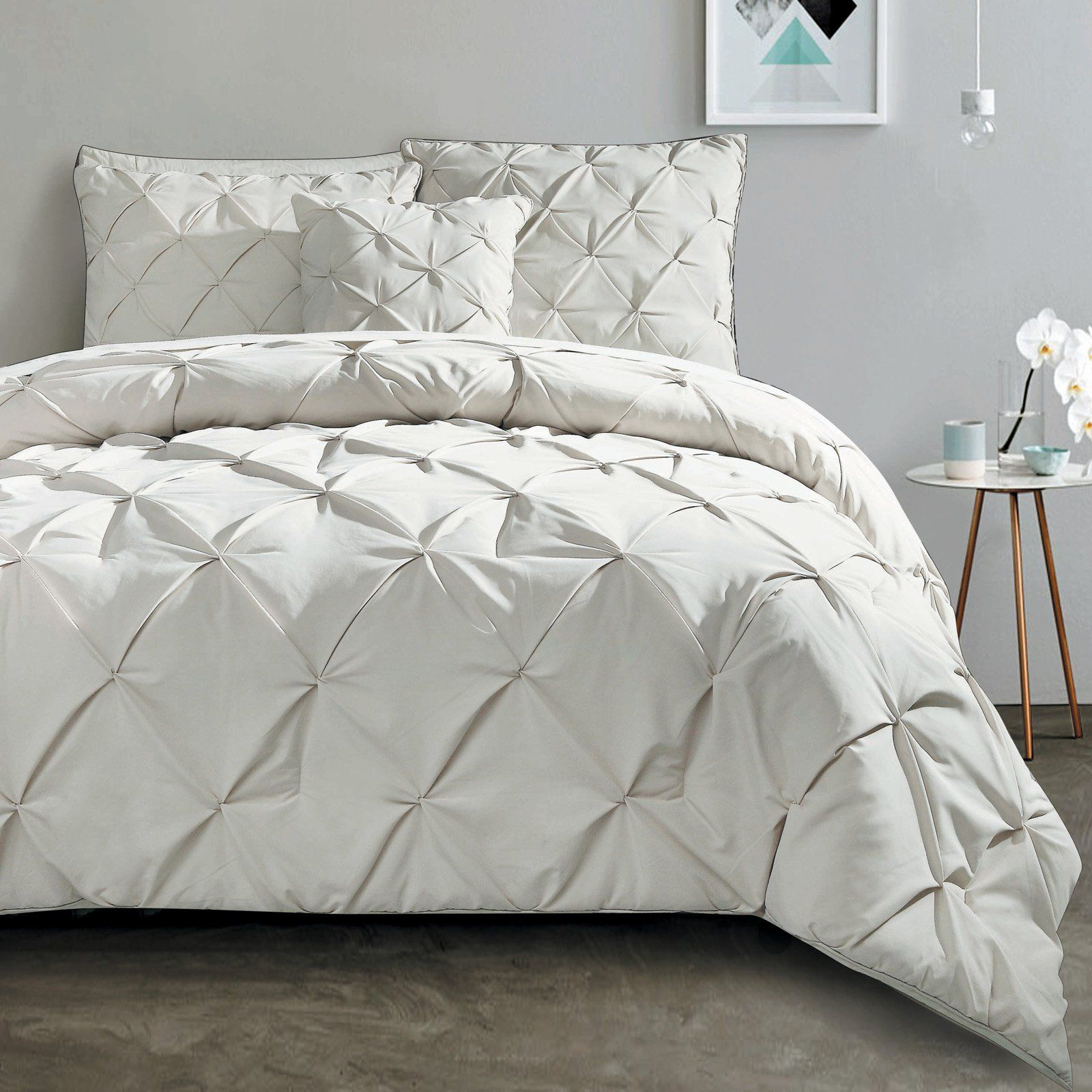 Carmen 4 Piece Comforter Set by VCNY Taupe Comforter