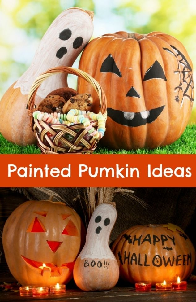 Painted Pumpkin Ideas for Halloween - Spaceships and Laser Beams - halloween pumpkin decorations