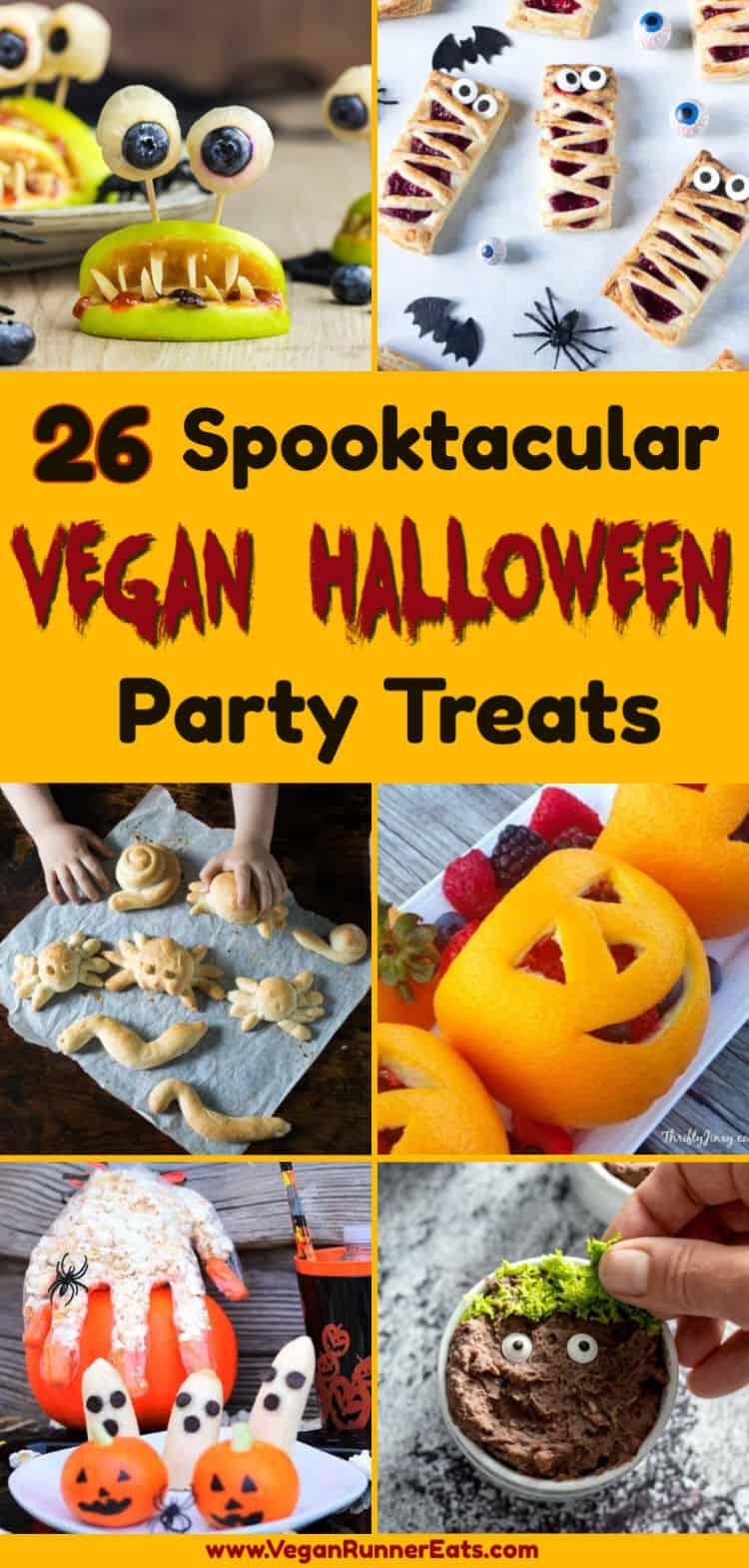 26 Spooktacular Vegan Halloween Recipes Vegan Appetizers Main Course And Sweet Treats Fo Vegan Halloween Food Halloween Food For Party Vegan Halloween Treat