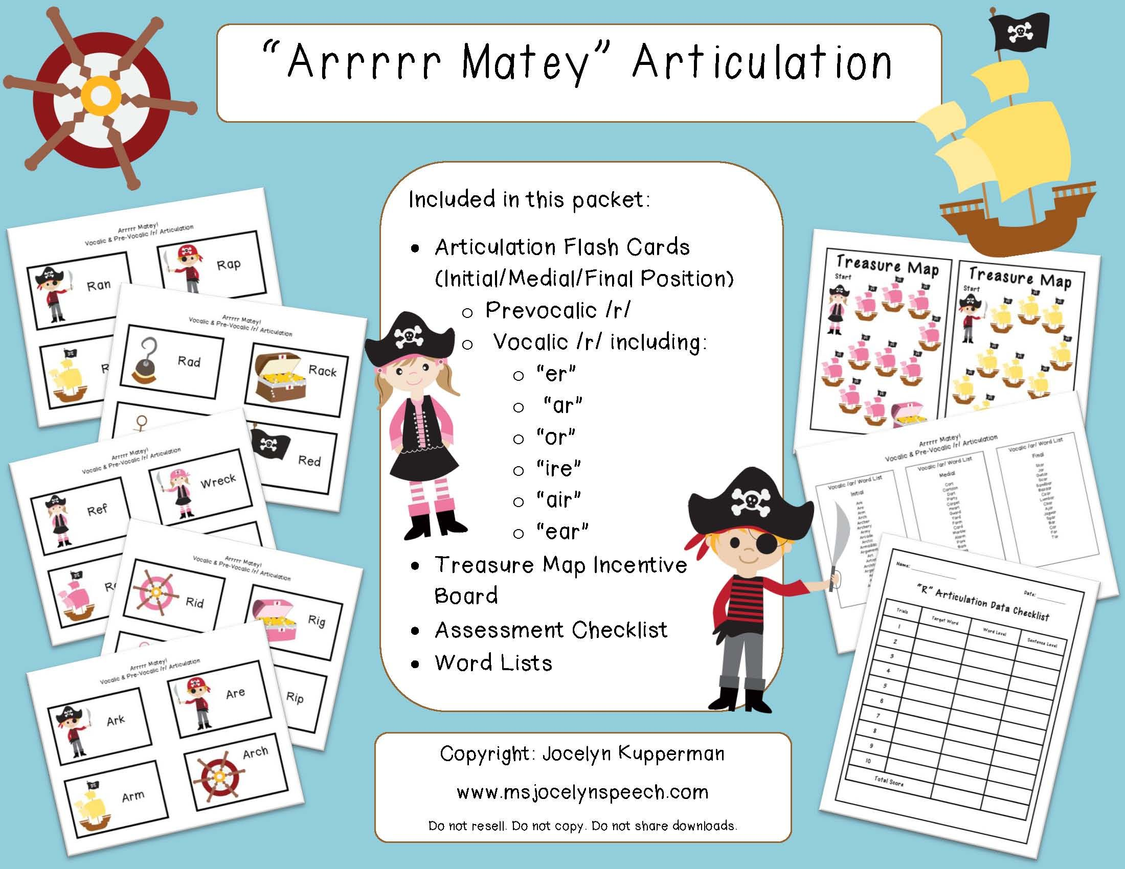 worksheet Vocalic R Worksheets arrrrrr matey tpt prevocalic r and vocalic speech r