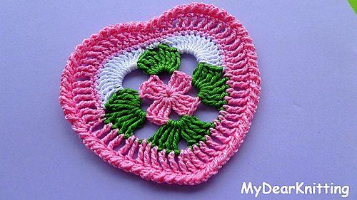 Ravelry Easy Crochet Granny Heart Square Pattern By Helen Vyazem