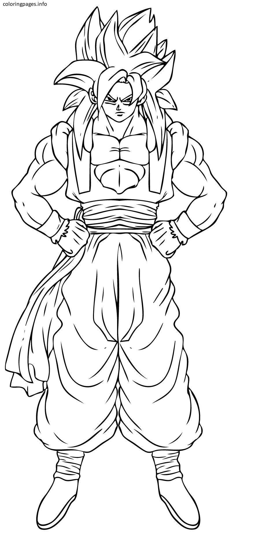 Dragon Ball Z Goku Coloring Pages Printable Idea Pinterest