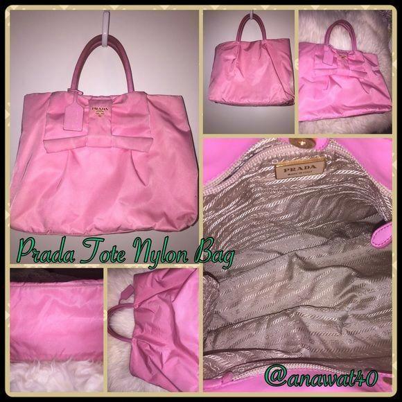 8df5b479dd67 Selling this Authentic Prada Preloved Tote Nylon Bow Handbag in my Poshmark  closet! My username is: anawat40. #shopmycloset #poshmark #fashion  #shopping ...