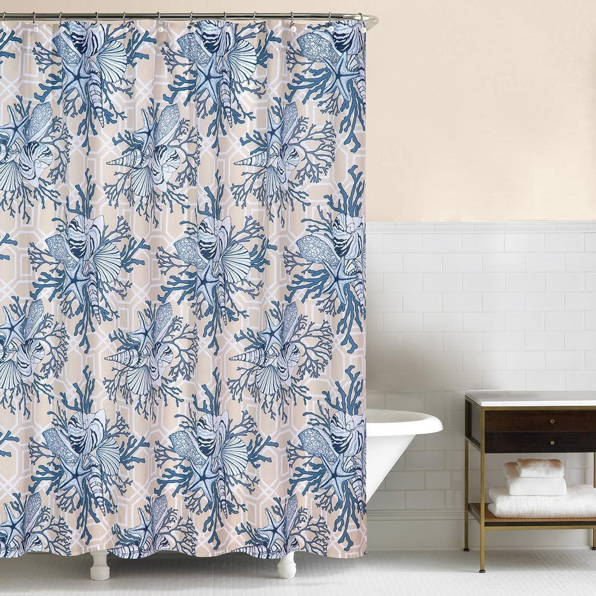 Indigo Sound Shower Curtain Curtains Shower Home