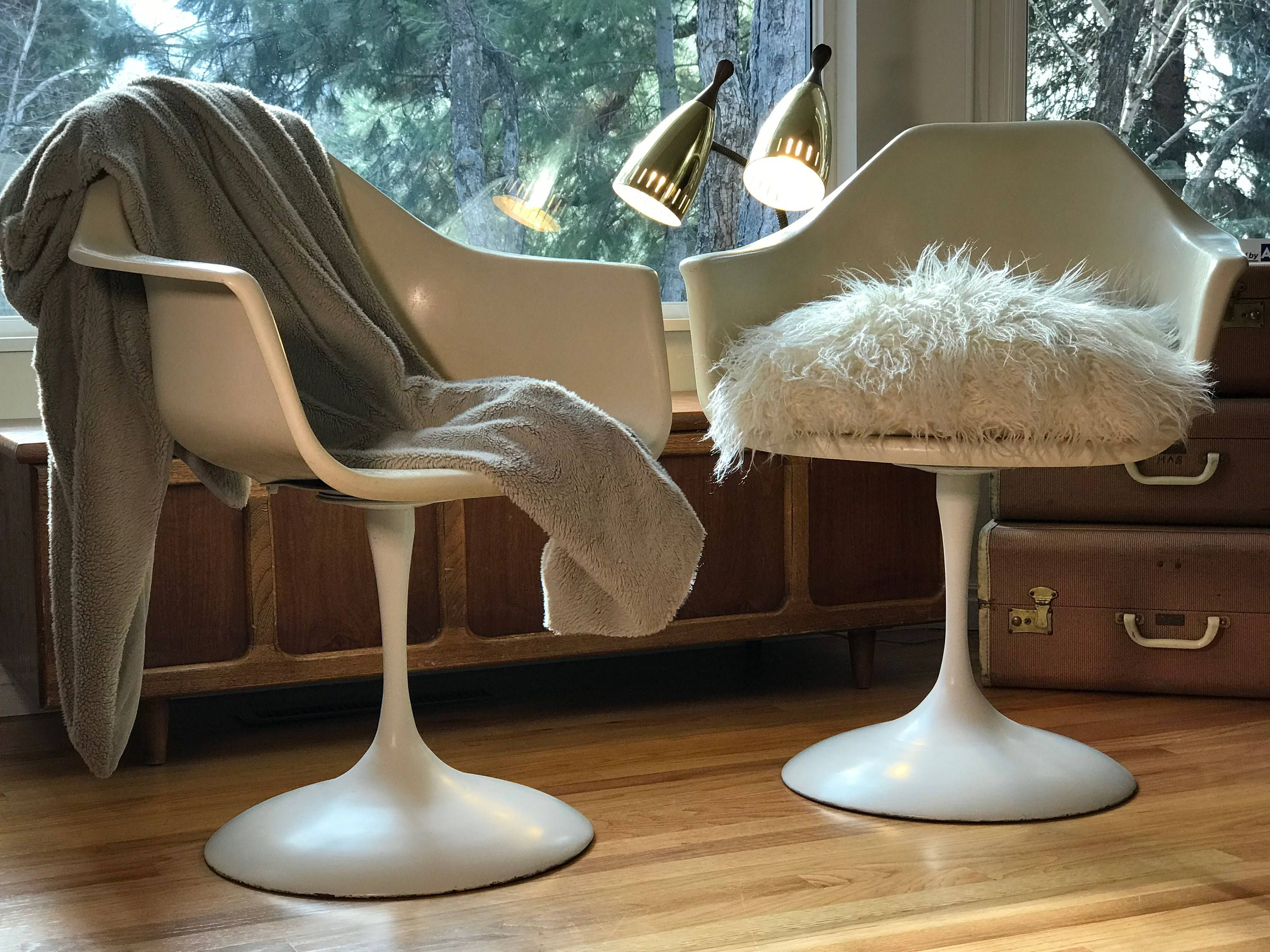 Tulip Swivel Arm Chairs Mid Century Modern By North Central