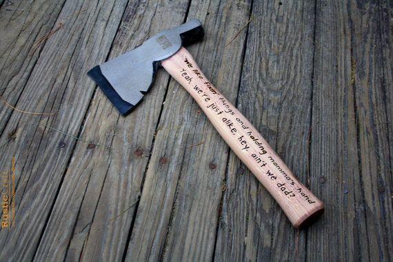10+ Engraved hatchet groomsmen gift ideas