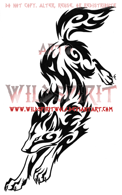 tribal wolf tattoo wolf leap tribal swirl tattoo by wildspiritwolf on deviantart tattoos. Black Bedroom Furniture Sets. Home Design Ideas