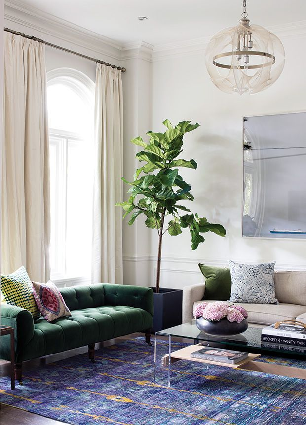 See beautiful living rooms that are both formal and relaxed Get