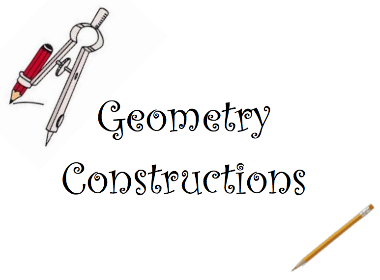 Geometry Constructions Instructions Worksheets Math I