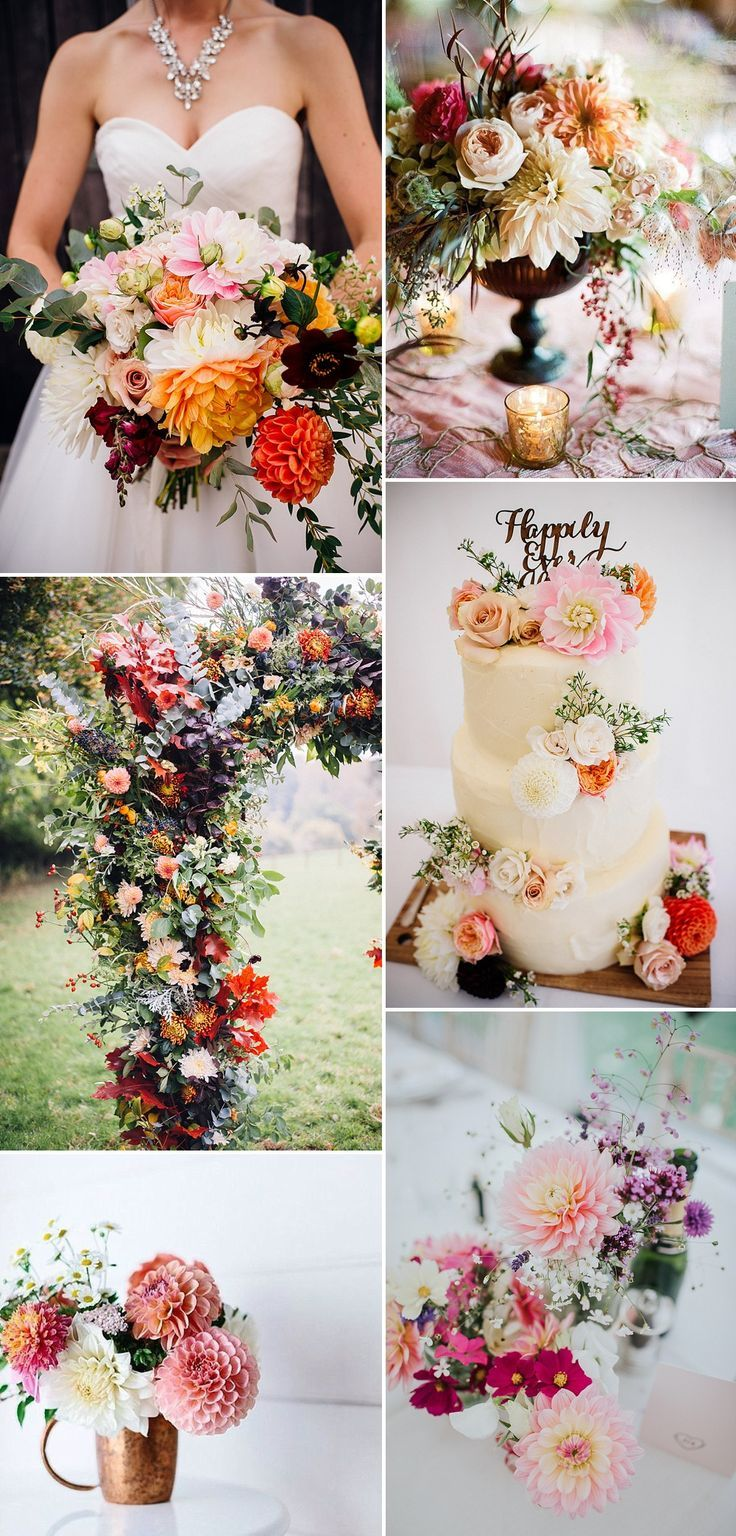 Dahlia Wedding Bouquet Floral Arrangement Ideas Wedding Ideas