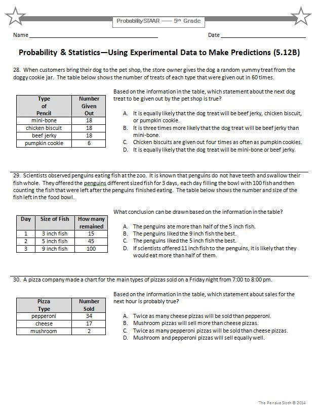 6th Grade STAAR Math: Proportionality Problem Solving--36 Questions ...