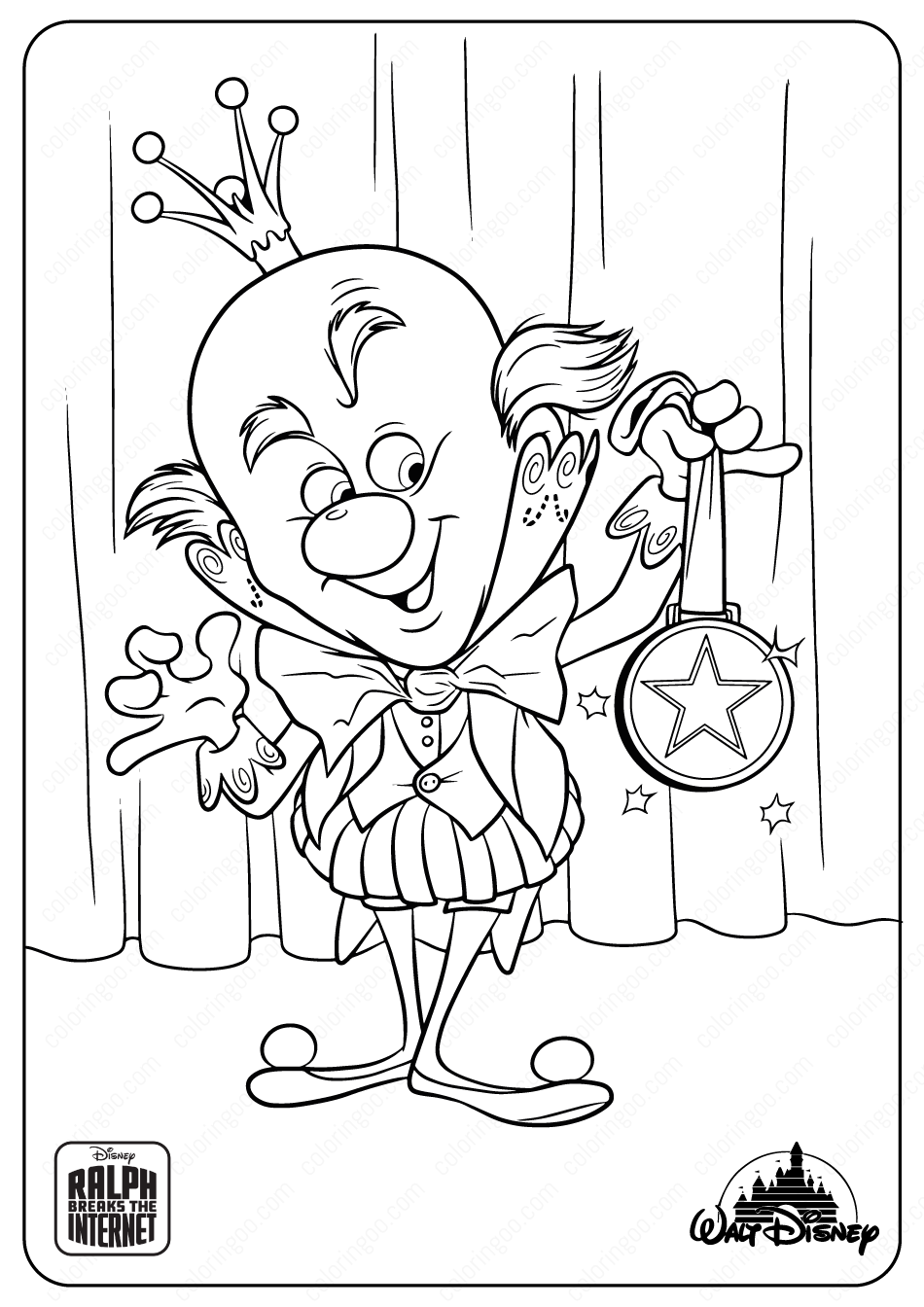 King Candy Coloring Pages In 2020 Candy Coloring Pages Disney Coloring Pages Cool Coloring Pages