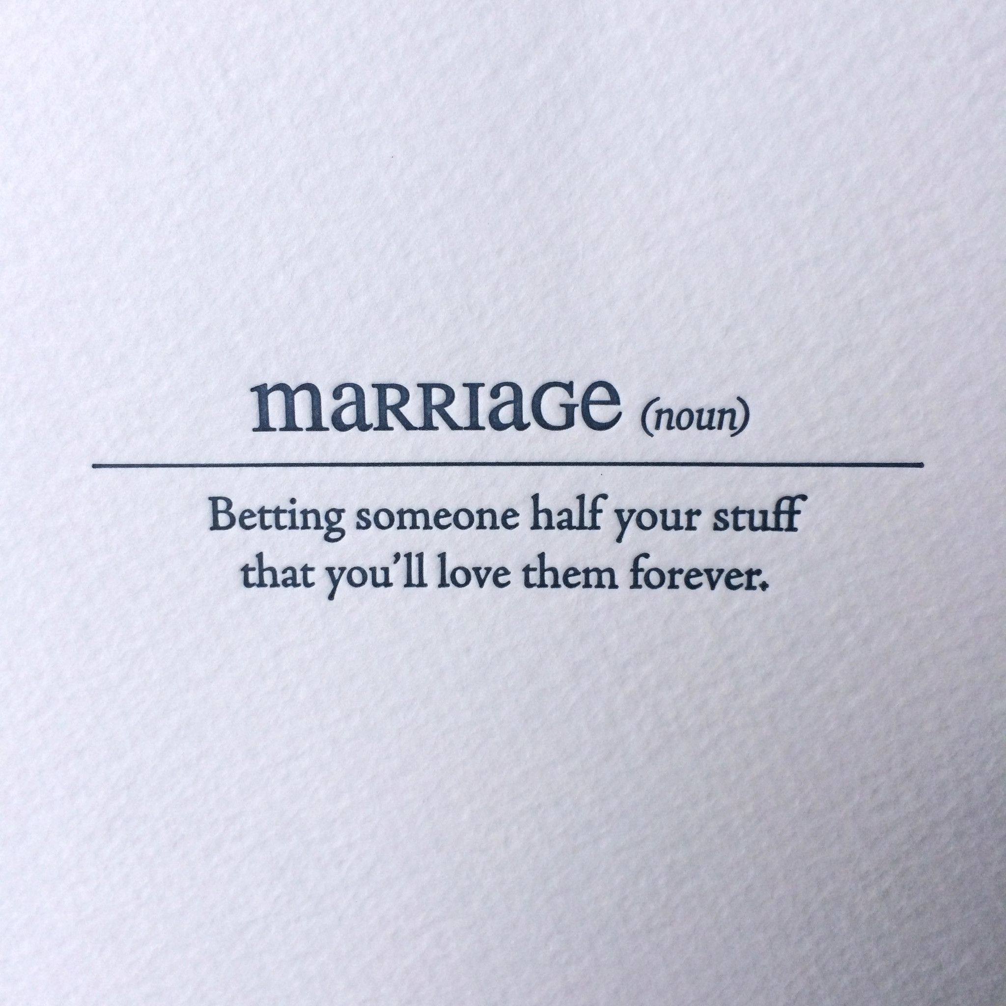 Marriage Letterpress Card Funny Quotes Marriage Quotes Marriage Humor