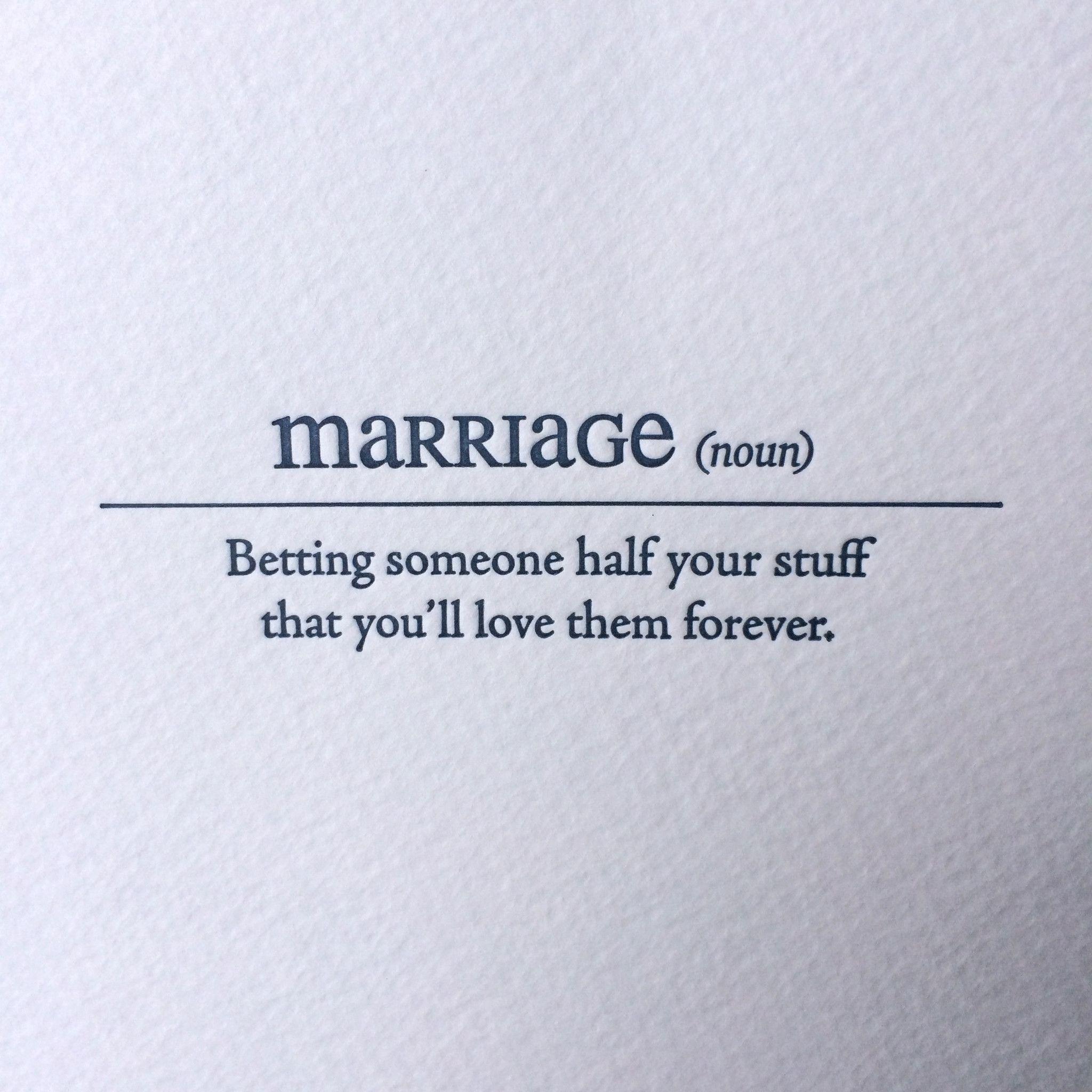 Marriage Letterpress Card