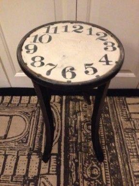 alice in wonderland furniture. Vintage Table French Shabby Furniture WineTable Clock Face Alice In Wonderland