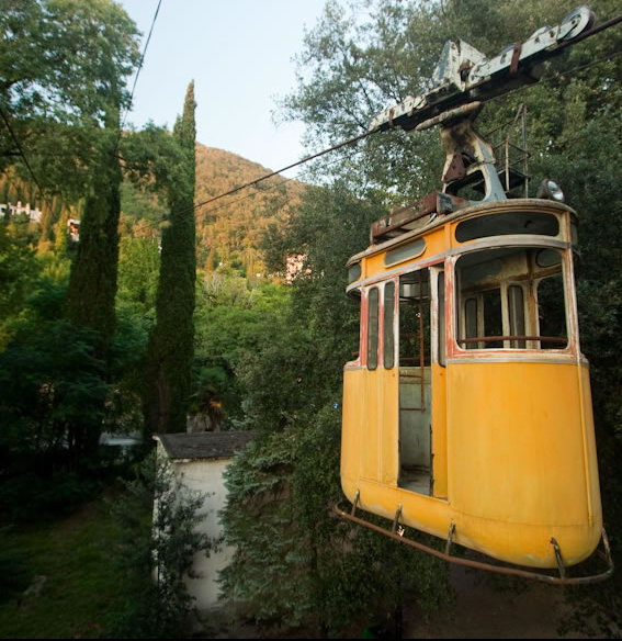Abandoned Yellow Cable Car