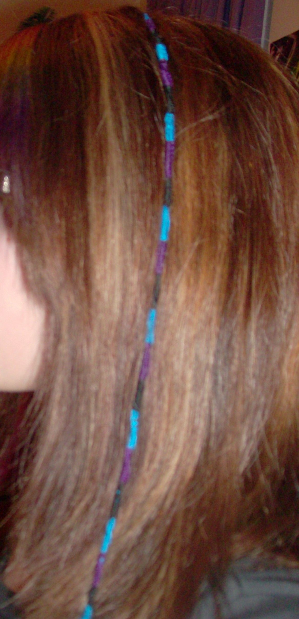 String Hair Wrap   String hair wraps Blue and pink hair ...