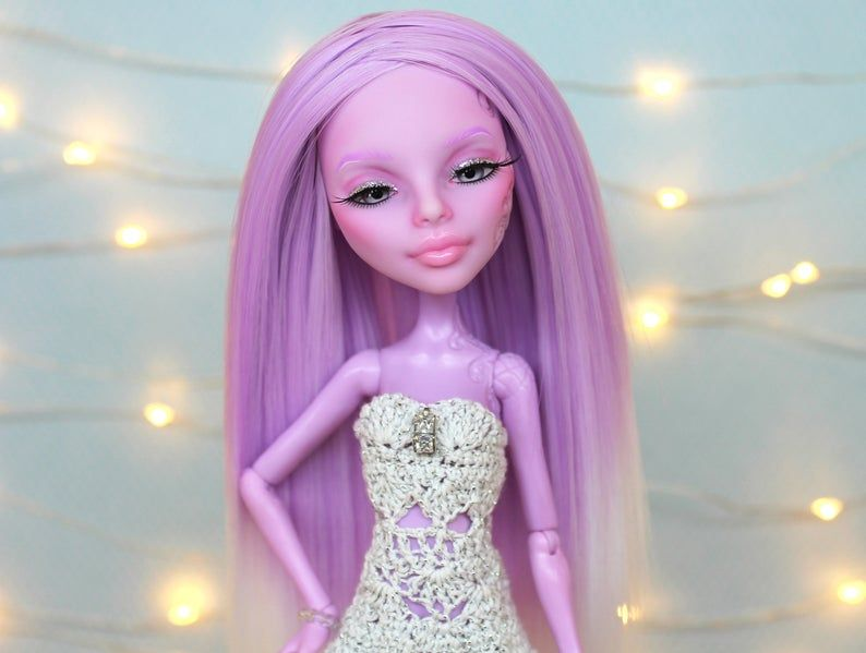 OOAK Monster High repaint with lilac hair #ooakmonsterhigh