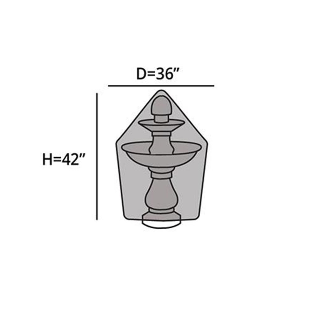 """Fountain Cover Ultima 36"""" Color: Sage Green FTCP748.SG3"""