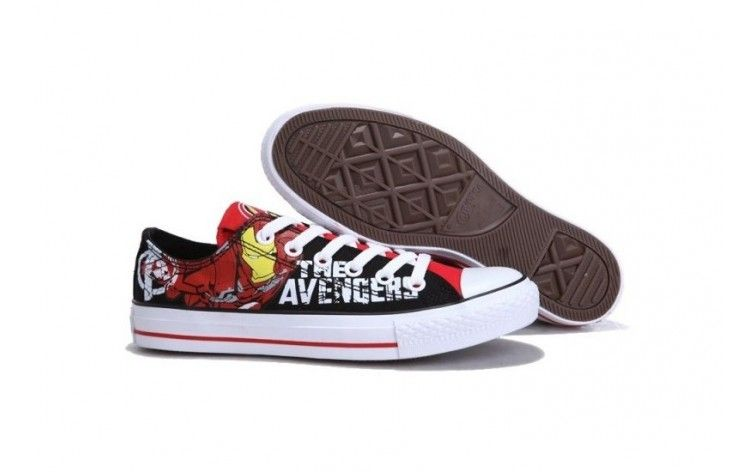 CONVERSE Black And White Avengers- Iron