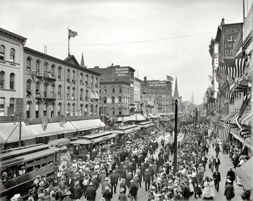 Buffalo New York 1900 Labor Day Parade Main Street Old