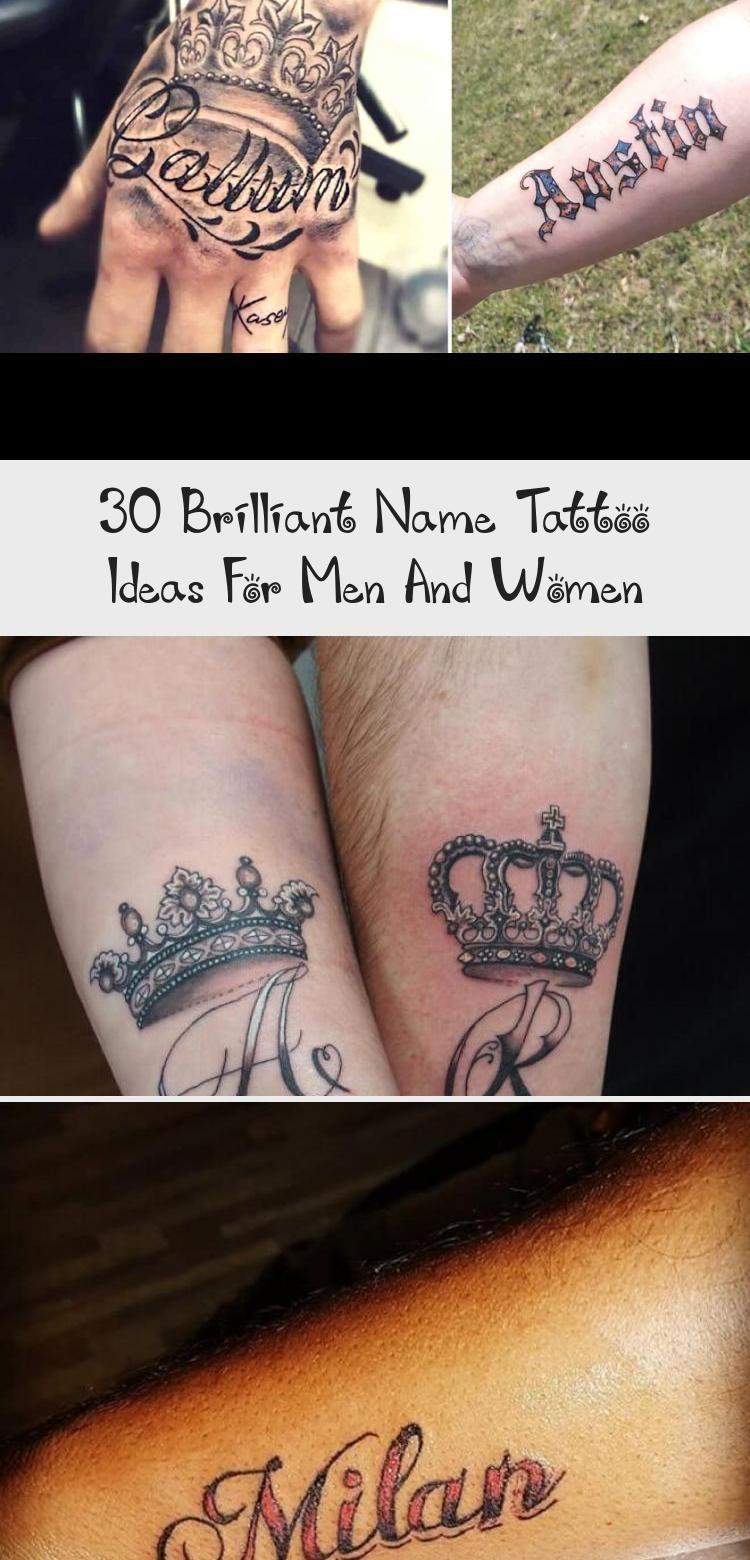 Tätowieren - 30 brillante Namen Tattoo Ideen für Männer