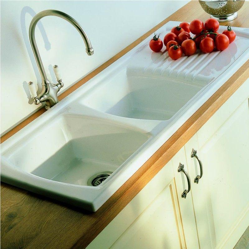 Porcelain Kitchen Sink Double Kitchen Sink Design Drainboard Sink Ceramic Kitchen Sinks
