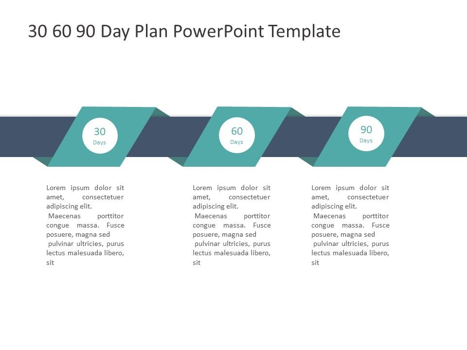 30 60 90 Plan Infographic 90 Day Plan Powerpoint Templates Day Plan