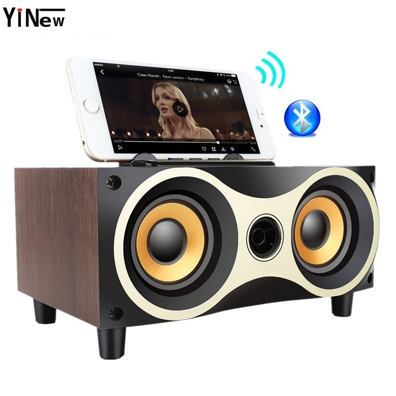 Wireless Bluetooth Speaker Fm Radio Bass Portable Boombox Wooden Sound Box Hifi Subwoofer Usb Pc Tv Soundbar For Xiaomi Computer Wireless Speakers Bluetooth Wireless Speakers Mini Bluetooth Speaker
