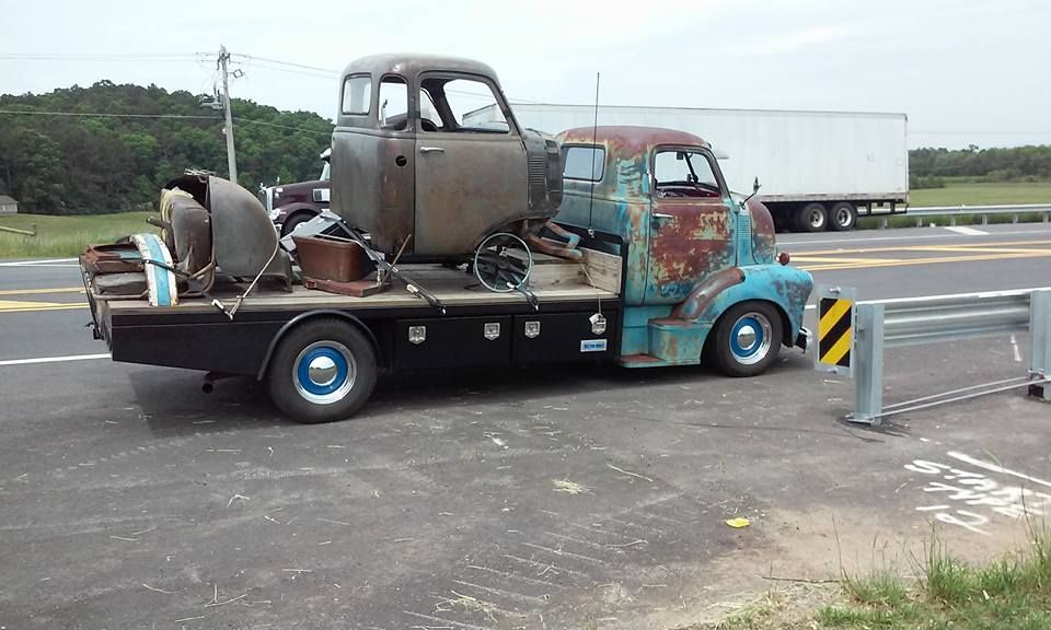 47 Chevy CEO on a late model chassis swap with custom flat bed ...