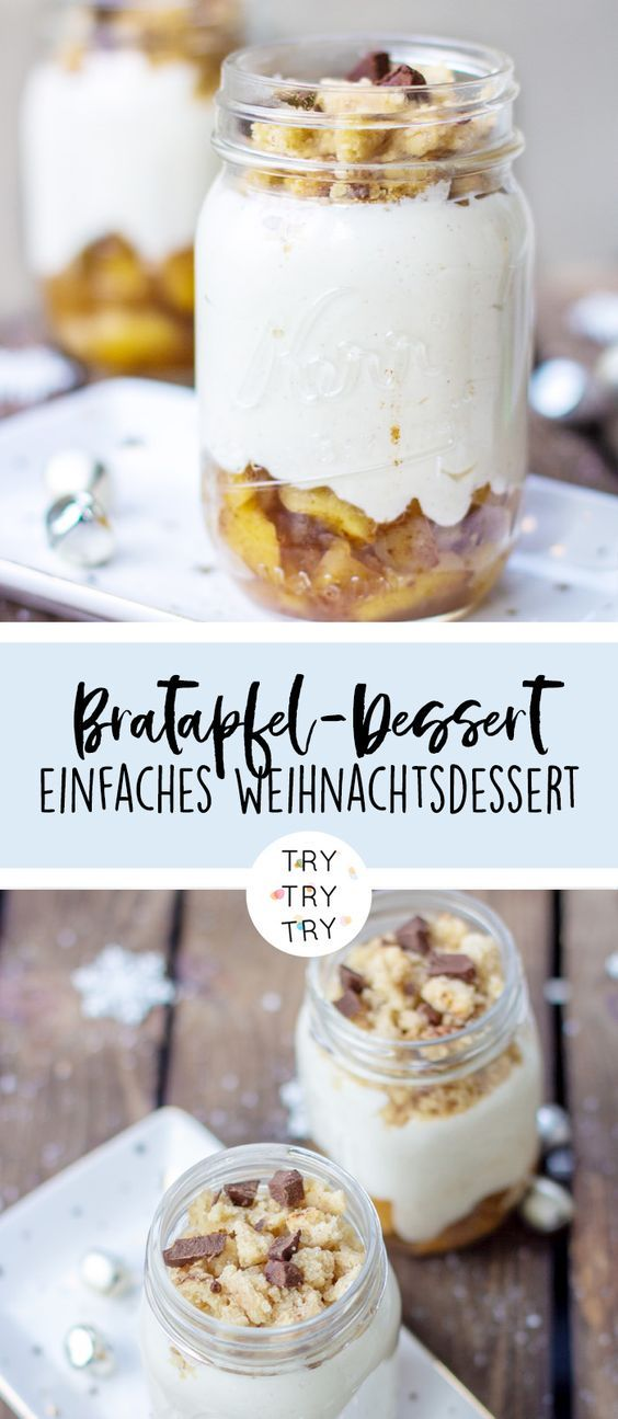 Bratapfel-Dessert im Glas {Foodie Christmas}