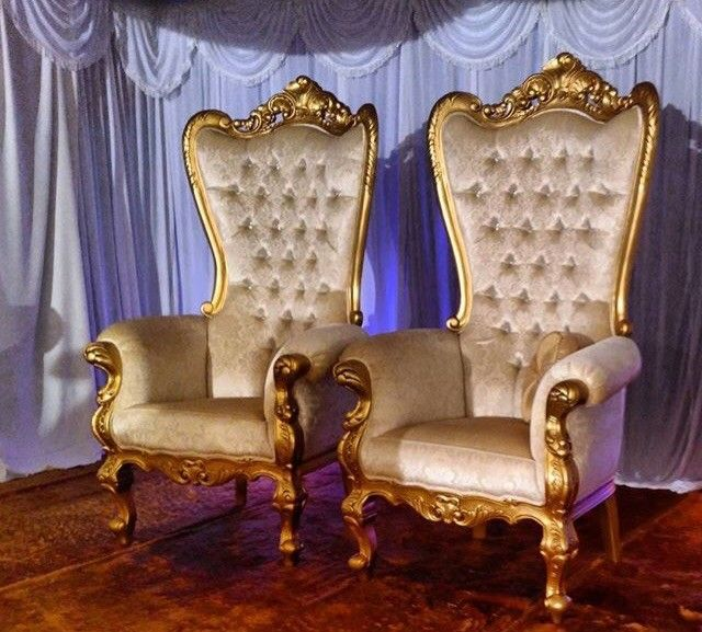 King And Queen Chairs For Rent Recliner Camping Chair Baroque Throne | Furniture Rental Pinterest Chair, Wedding Weddings