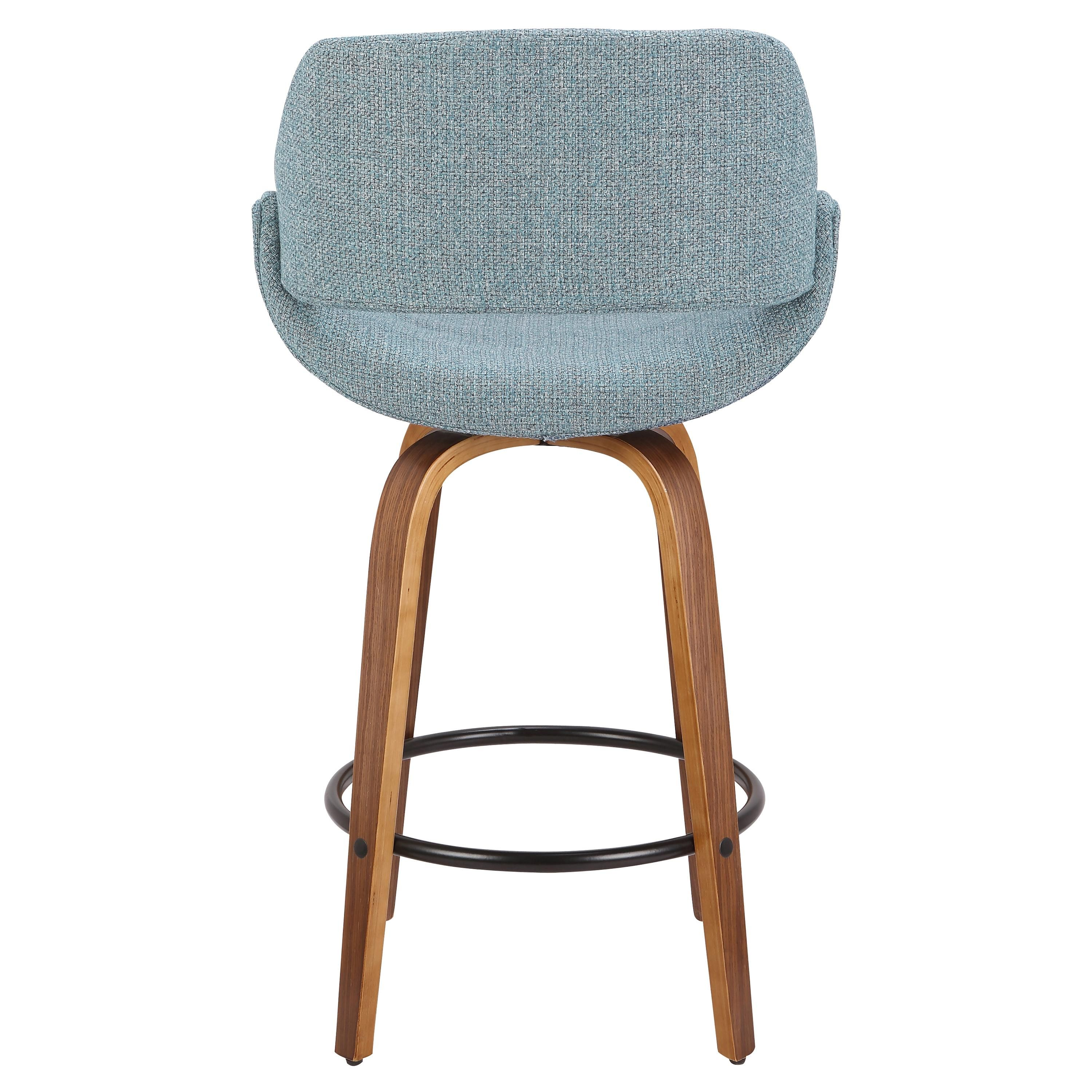 Groovy Blue And Brown 26 Inch Counter Height Stool Set Of 2 Fabrico Camellatalisay Diy Chair Ideas Camellatalisaycom