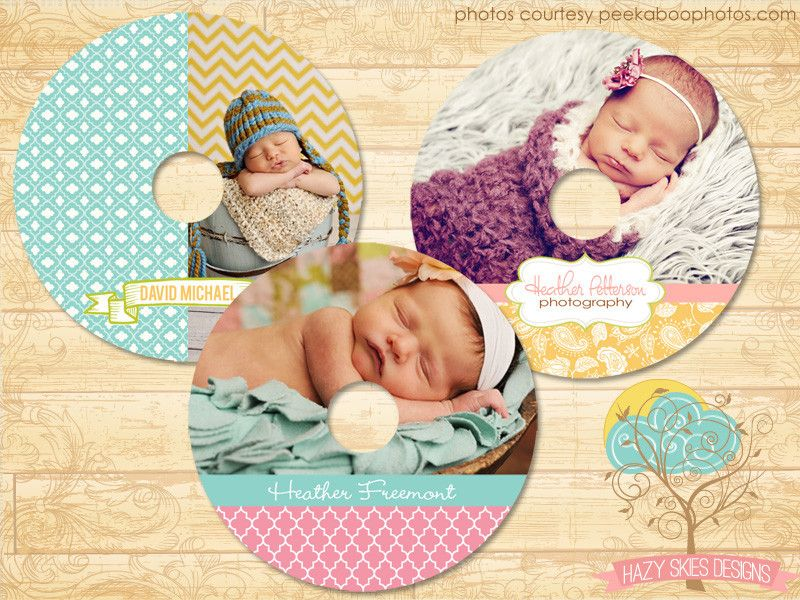 CD/DVD Label Photoshop Templates for Photographers #psd templates ...