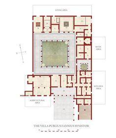 Villa reconstruction 2 Pompeii Italy