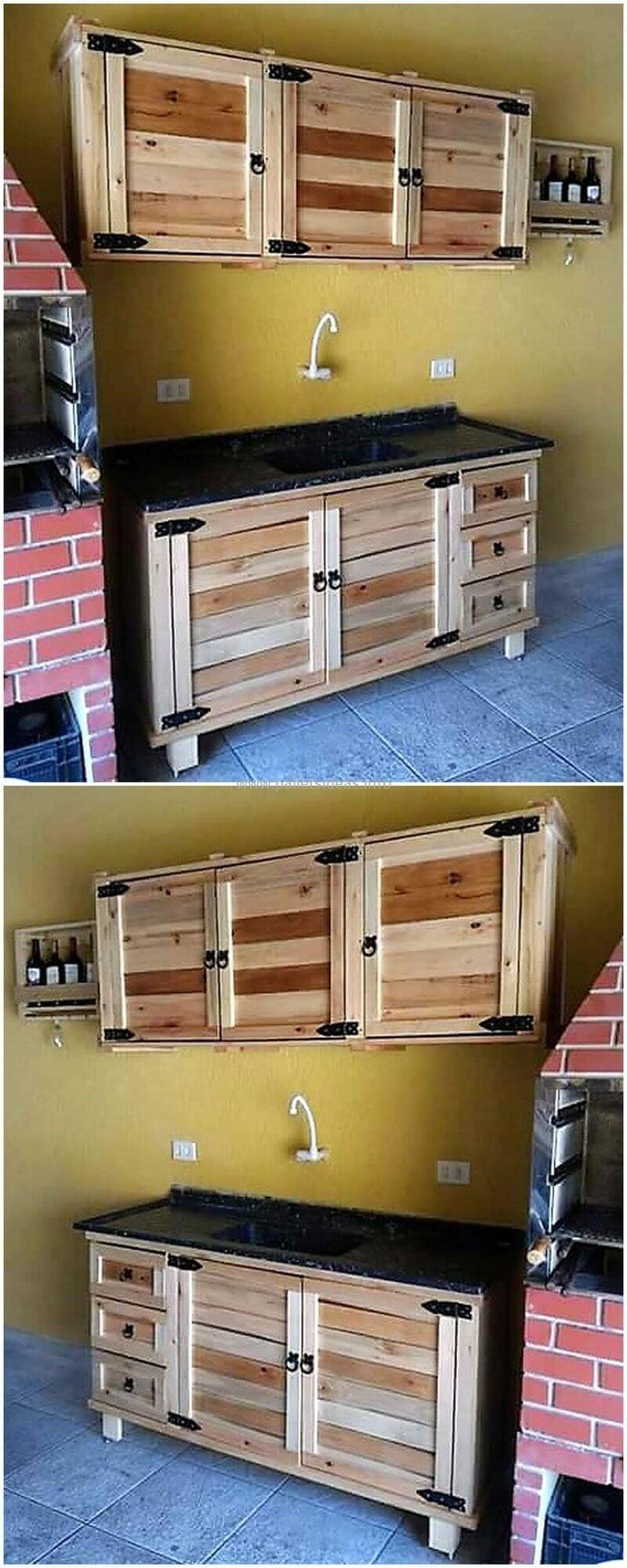 Simple Pallet Kitchen Plan Pallet Kitchen Diy Kitchen Cabinets Green Kitchen Cabinets