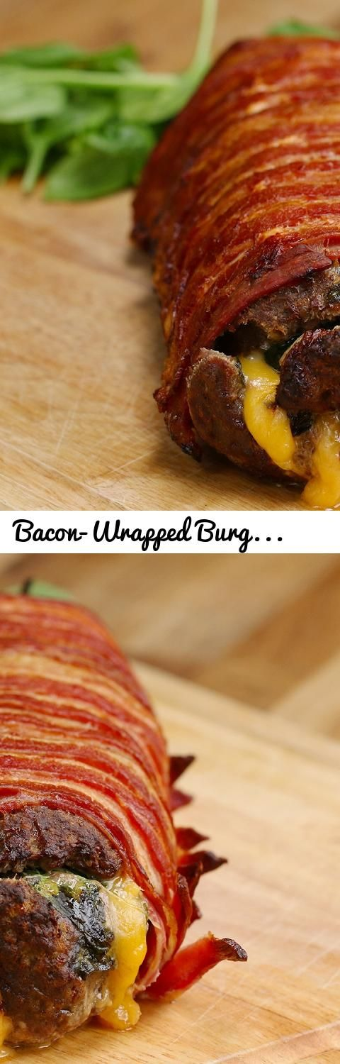 Bacon wrapped burger roll tags tasty buzzfeed burger bacon tags tasty buzzfeed burger bacon forumfinder Choice Image