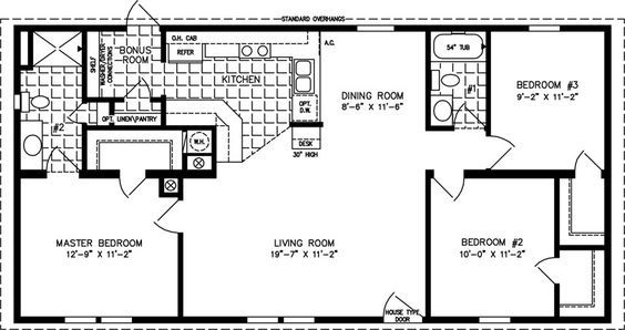 House Plans Under 1000 Sq Ft Open Floor Plan The Tnr Model Tnr 4489a Small House Floor Plans Manufactured Homes Floor Plans 1000 Sq Ft House