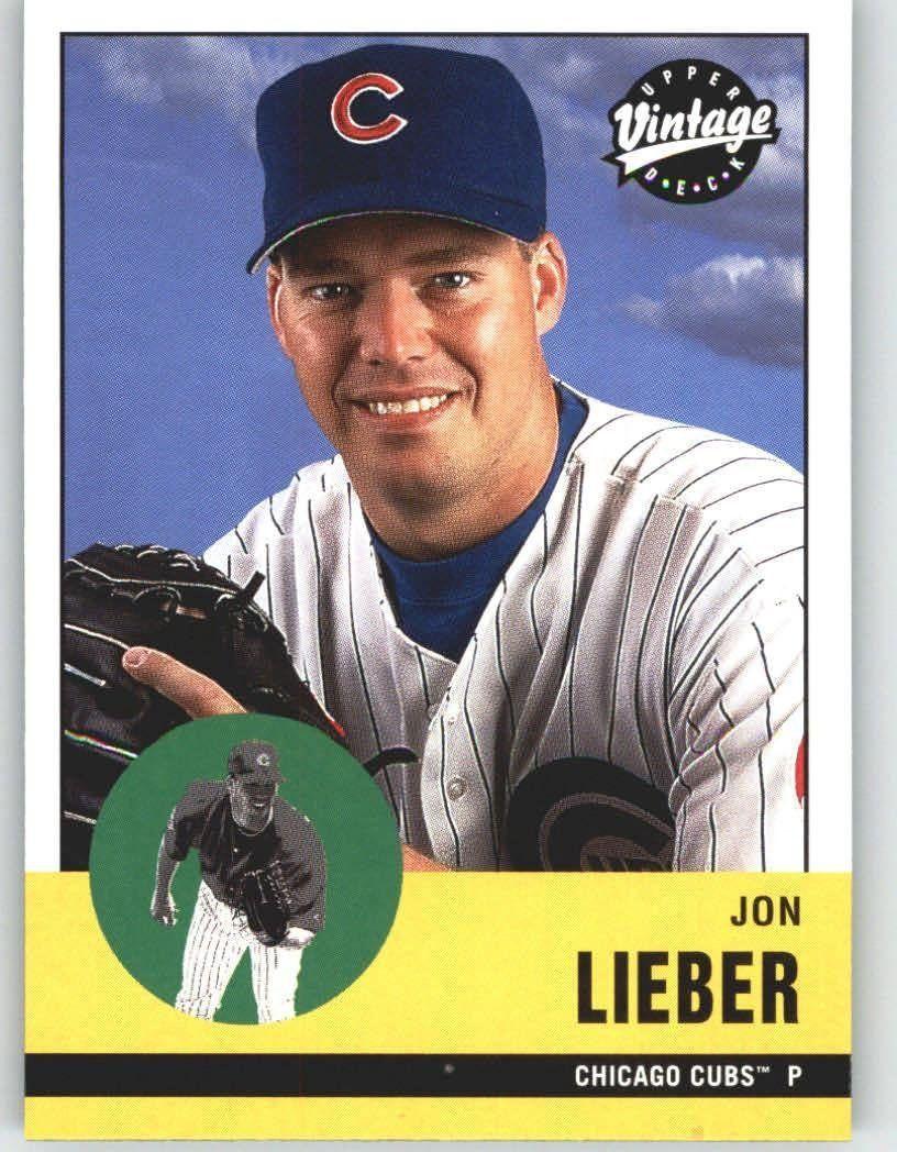 2001 Upper Deck Vintage 212 Jon Lieber Chicago Cubs
