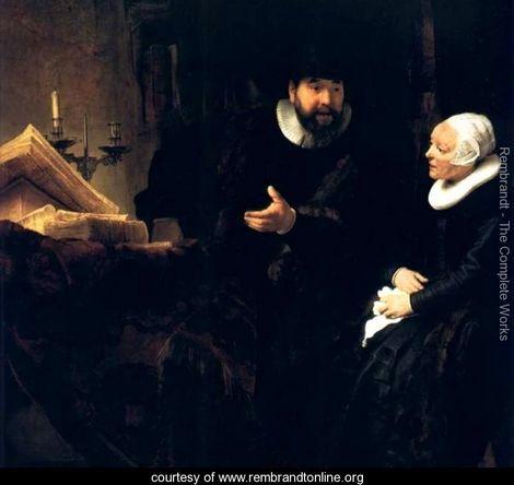Le Predicateur Menonite Cornelis,berlin 1640 - Rembrandt Van Rijn - www.rembrandtonline.org
