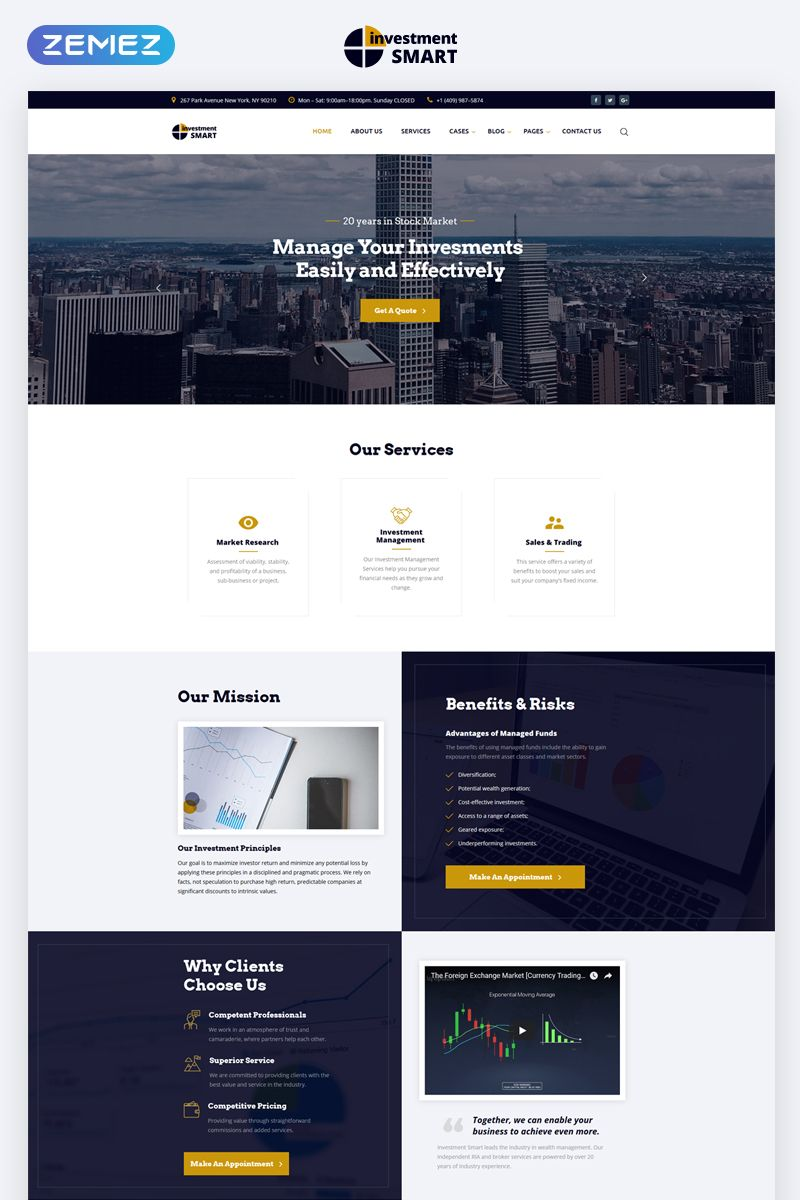 Investment Smart Solid Investment Agency Multipage Html5 Website Template Minimal Web Design Web Layout Design Web Design Tips