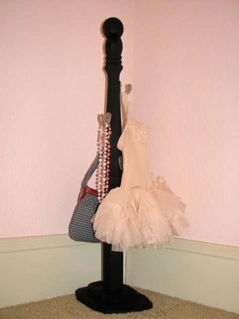 Tiny Coat Rack love this idea for the girls room